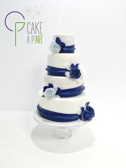 Gâteau Mariage Roses - Cakeapart