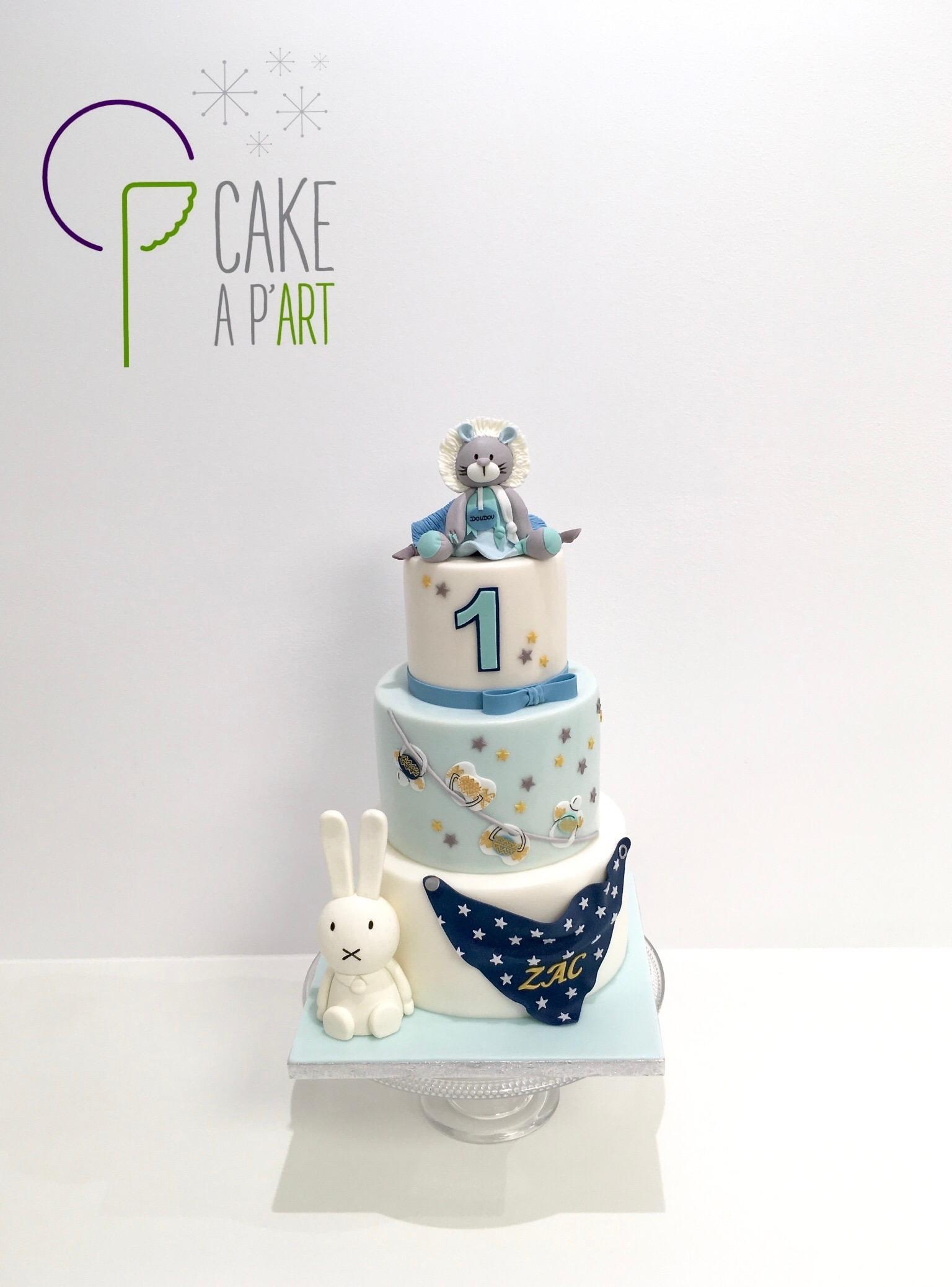 - Gâteau personnalisé anniversaire enfant - Thème Doudou et veilleuse lapin Miffy