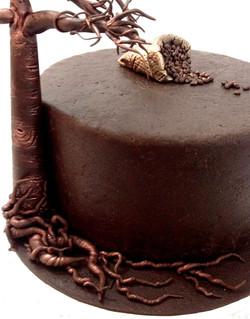 Décor modelage en sucre gâteaux personnalisés - Anniversaire Thème Madagascar baobab