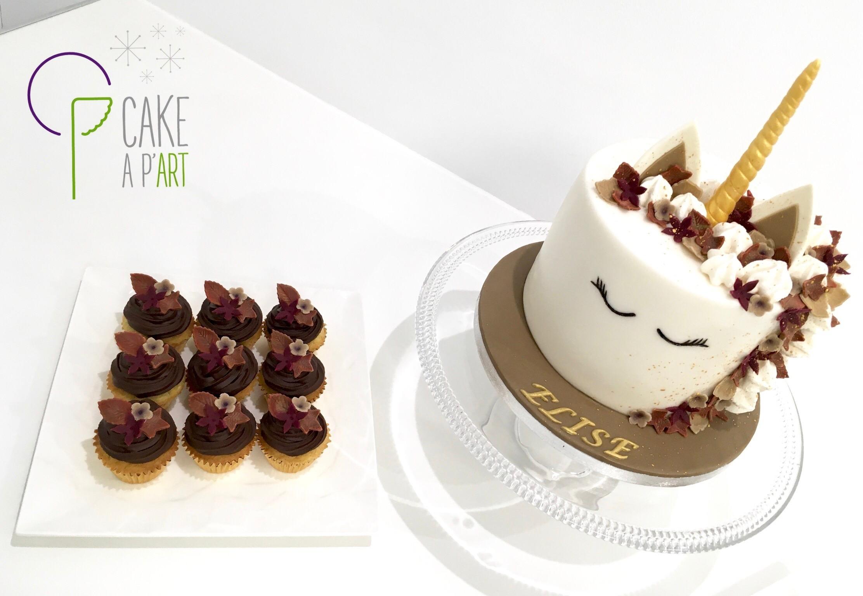 Gâteau sur mesure anniversaire adulte - Thème Licorne automne