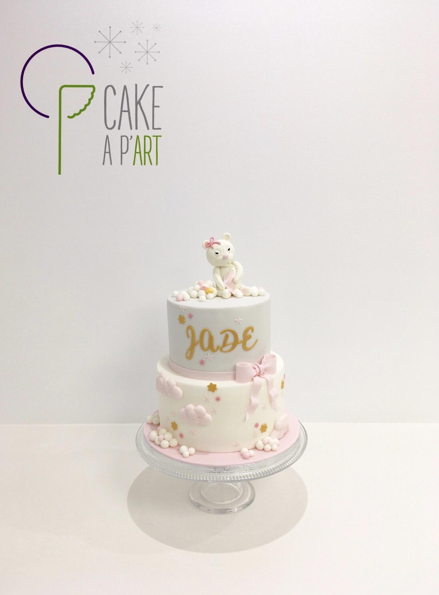 - Gâteau personnalisé anniversaire enfant - Thème Ourson nuages
