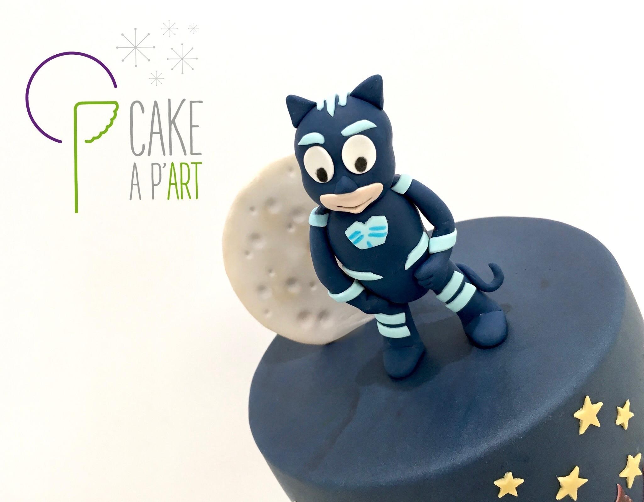 Décor modelage en sucre gâteaux personnalisés - Anniversaire Thème Pyjamasques Yoyo