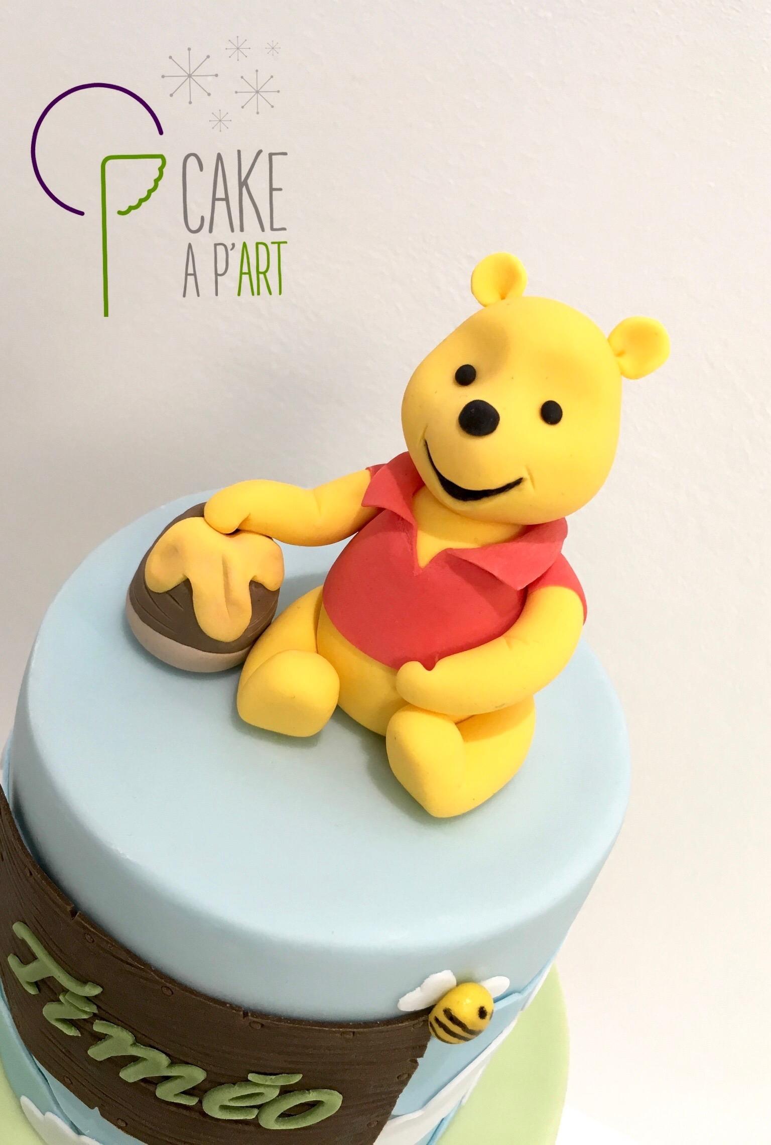Décor modelage en sucre gâteaux personnalisés - Anniversaire Thème Winnie l'ourson