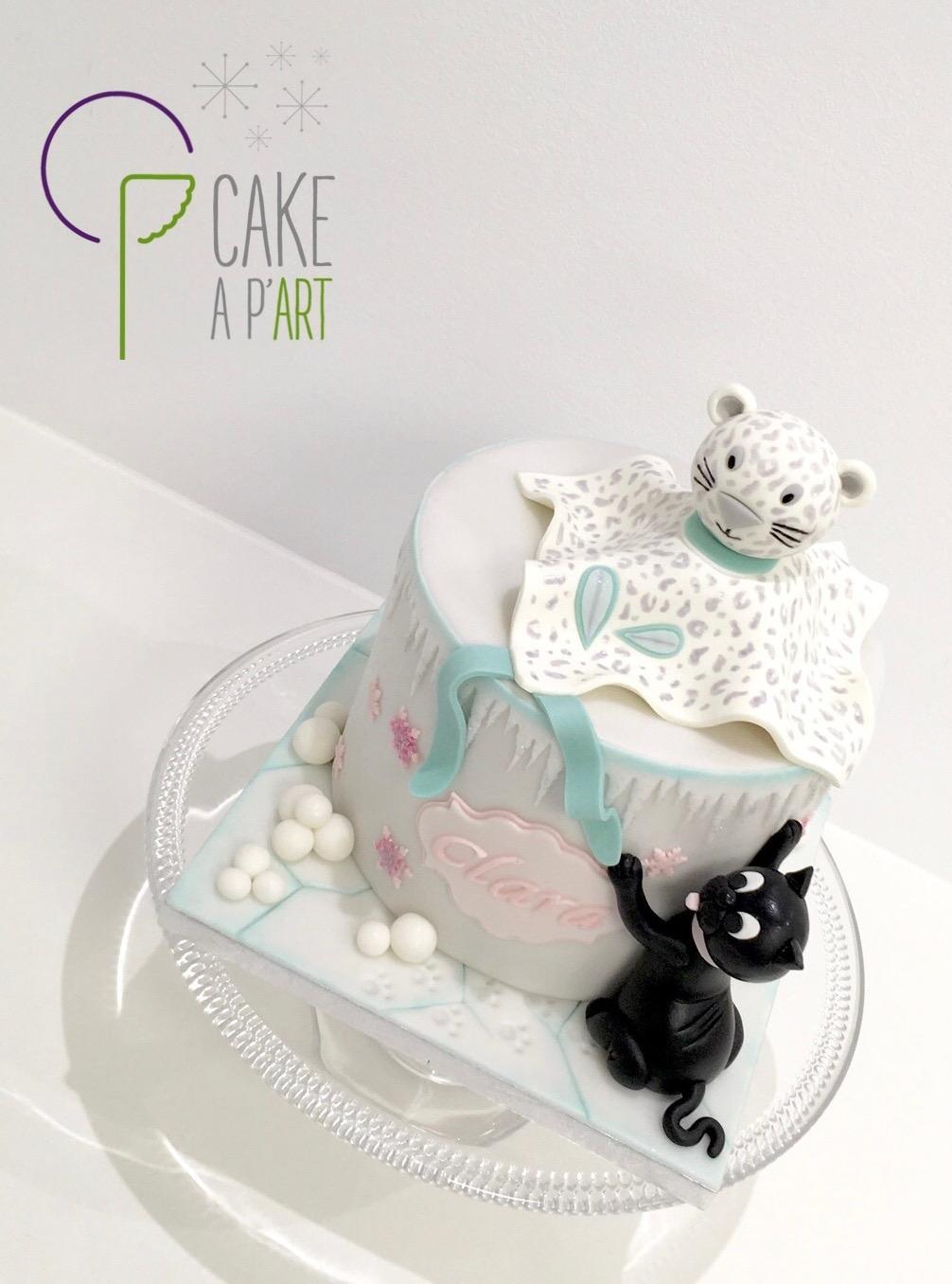 Décor en sucre gâteaux personnalisés - Anniversaire Modelage 3D Doudou Tigre blanc Chat