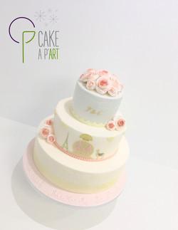 Wedding Cake Pièce montée Mariage - Thème Romantique Pérou