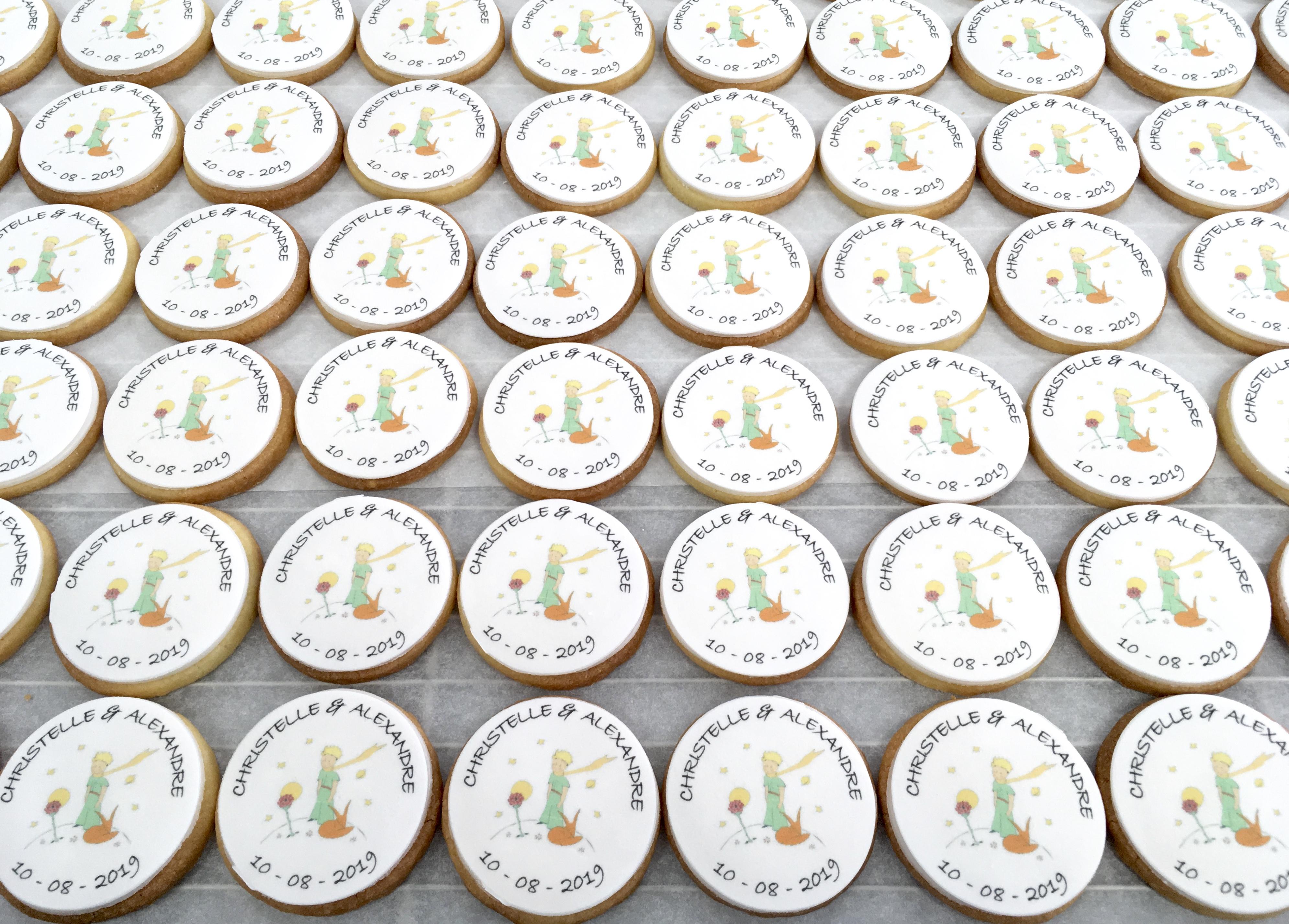 Gâteaux individuels personnalisés Mariage - Sablés décorés Impression alimentaire Le Petit Prince