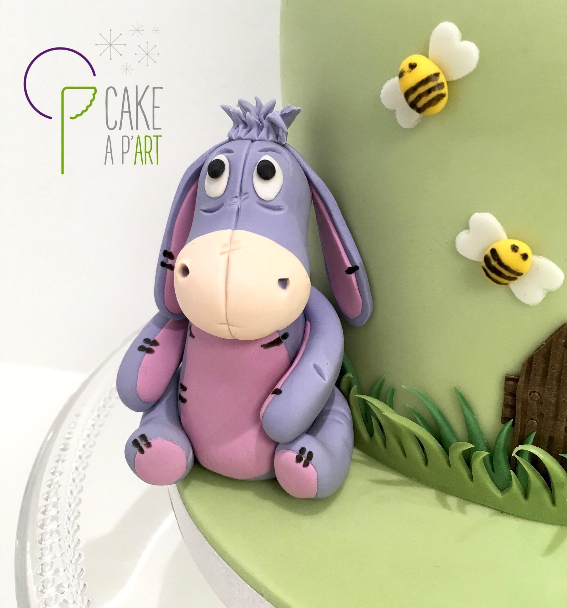 Décor modelage en sucre gâteaux personnalisés - Anniversaire Thème Winnie l'ourson Bourriquet