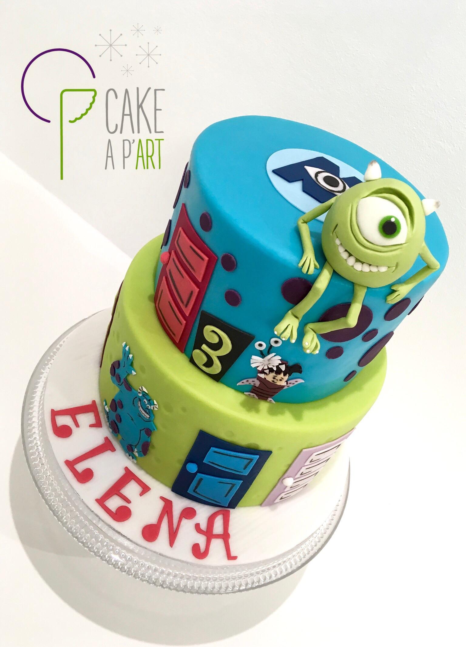 - Gâteau personnalisé anniversaire enfant - Thème Monstres et compagnie