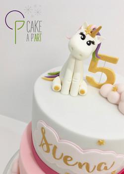 Décor modelage en sucre gâteaux personnalisés - Anniversaire Thème Licorne