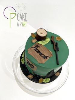 Gâteau sur mesure anniversaire adulte - Thème Chasse