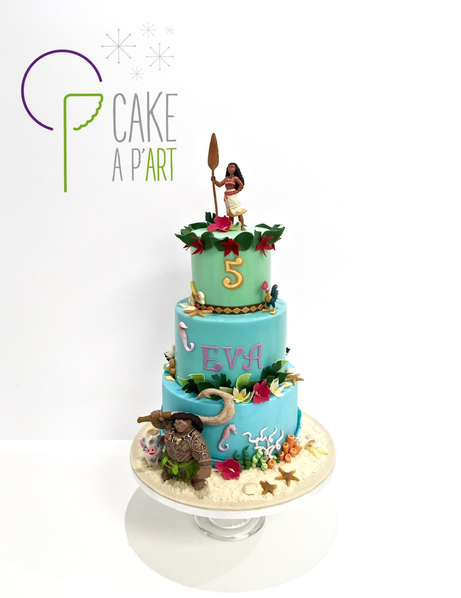 - Gâteau personnalisé anniversaire enfant - Thème Vaiana