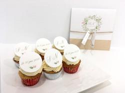 Gâteaux individuels personnalisés Mariage - Mini Cupcakes Impression alimentaire Rappel faire-part