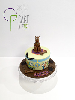 - Gâteau personnalisé anniversaire enfant - Thème Scooby Doo