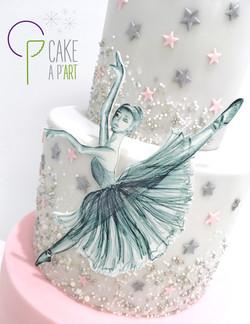 Gâteau sur mesure anniversaire adulte - Thème Danseuse étoile