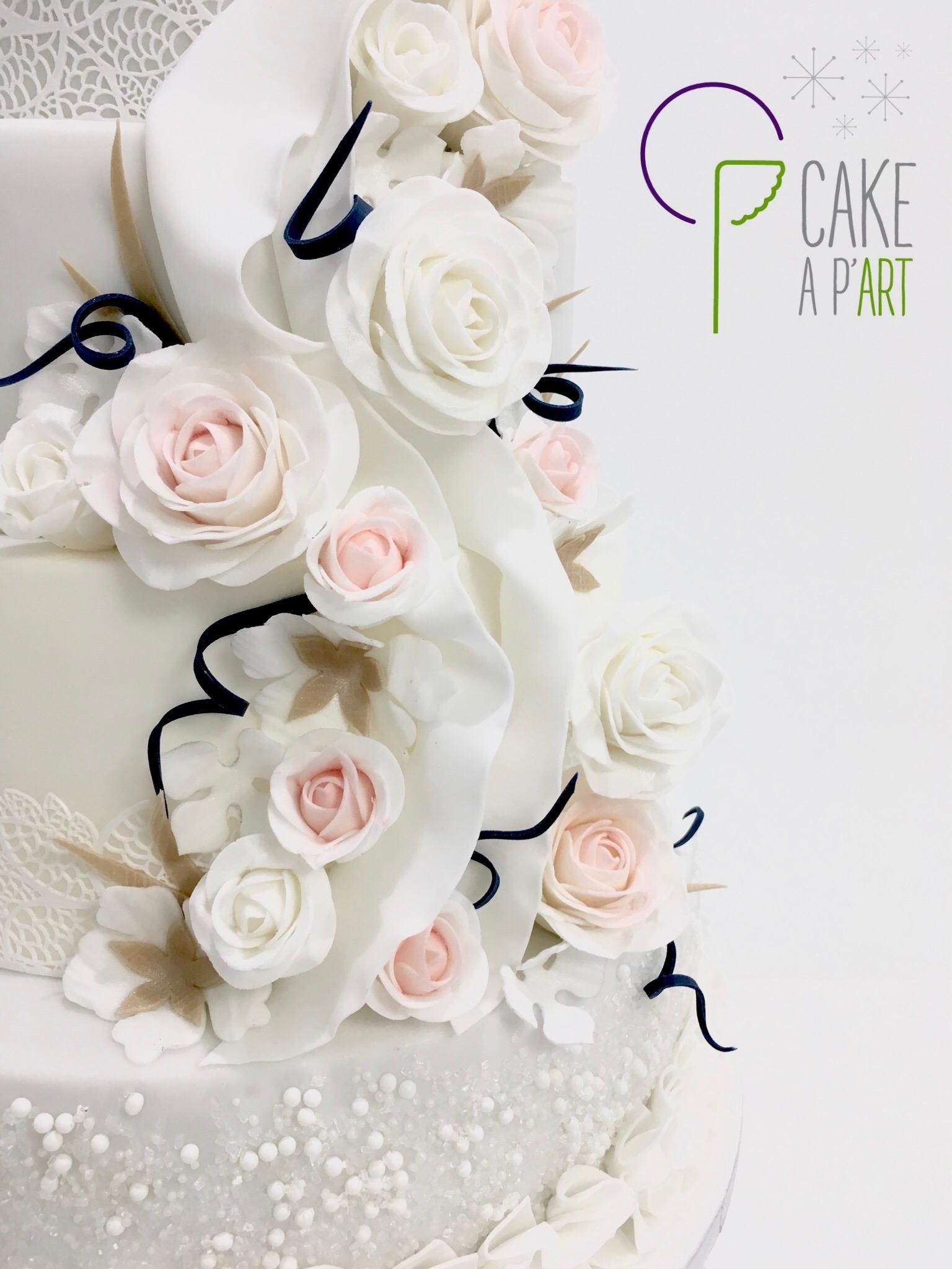 Wedding Cake Pièce montée Mariage - Thème Romantique floral