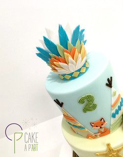 Décor modelage en sucre gâteaux personnalisés - Anniversaire Thème Indien et cowboy