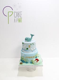 - Gâteau personnalisé anniversaire enfant - Thème Baleine marin