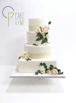 Wedding Cake Pièce montée Mariage - Thème Dentelle Champêtre