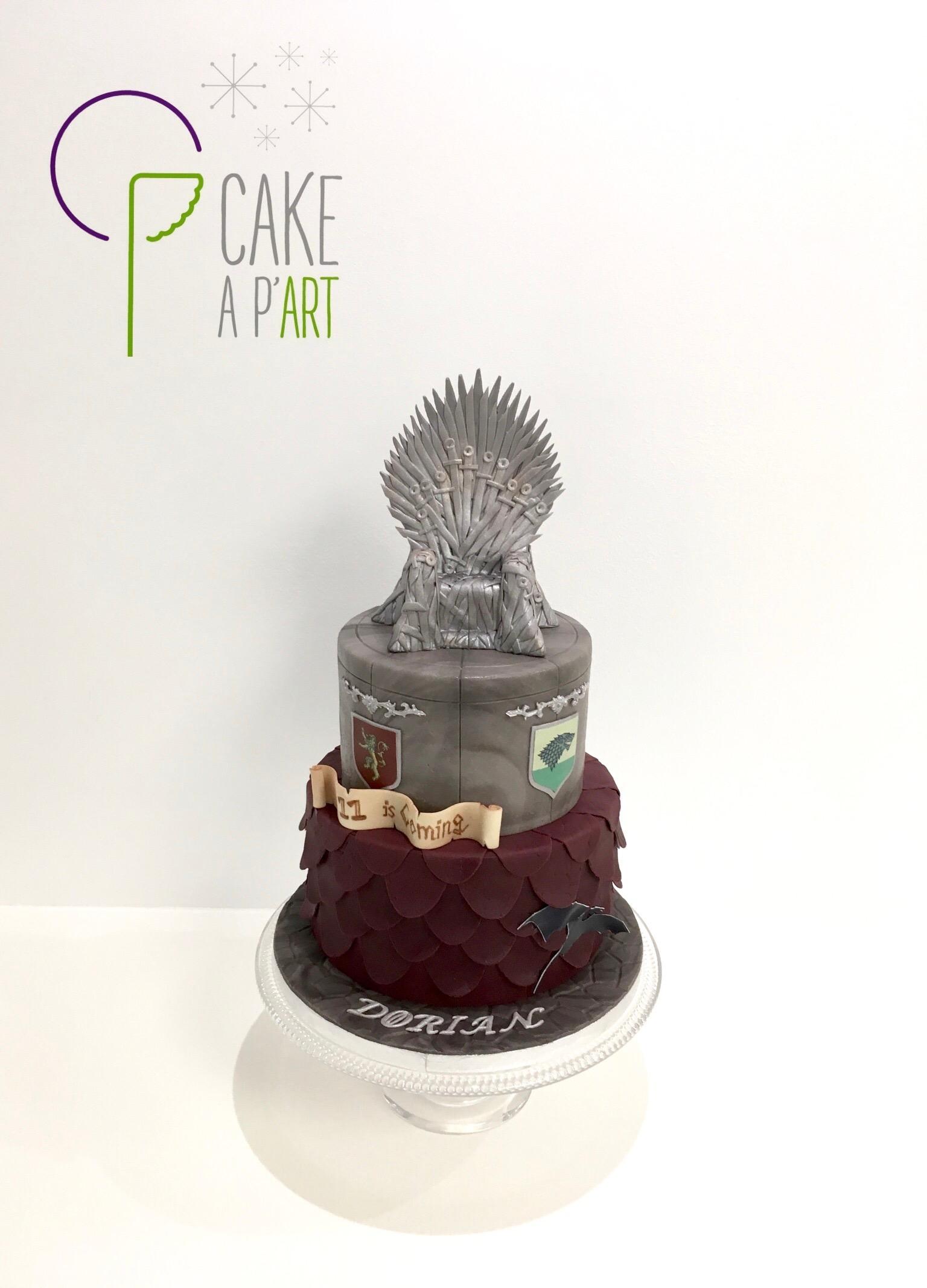 Gâteau anniversaire Thème Game of Thrones