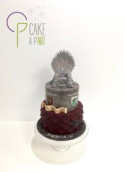 Gâteau sur mesure anniversaire adulte - Thème Game of Thrones
