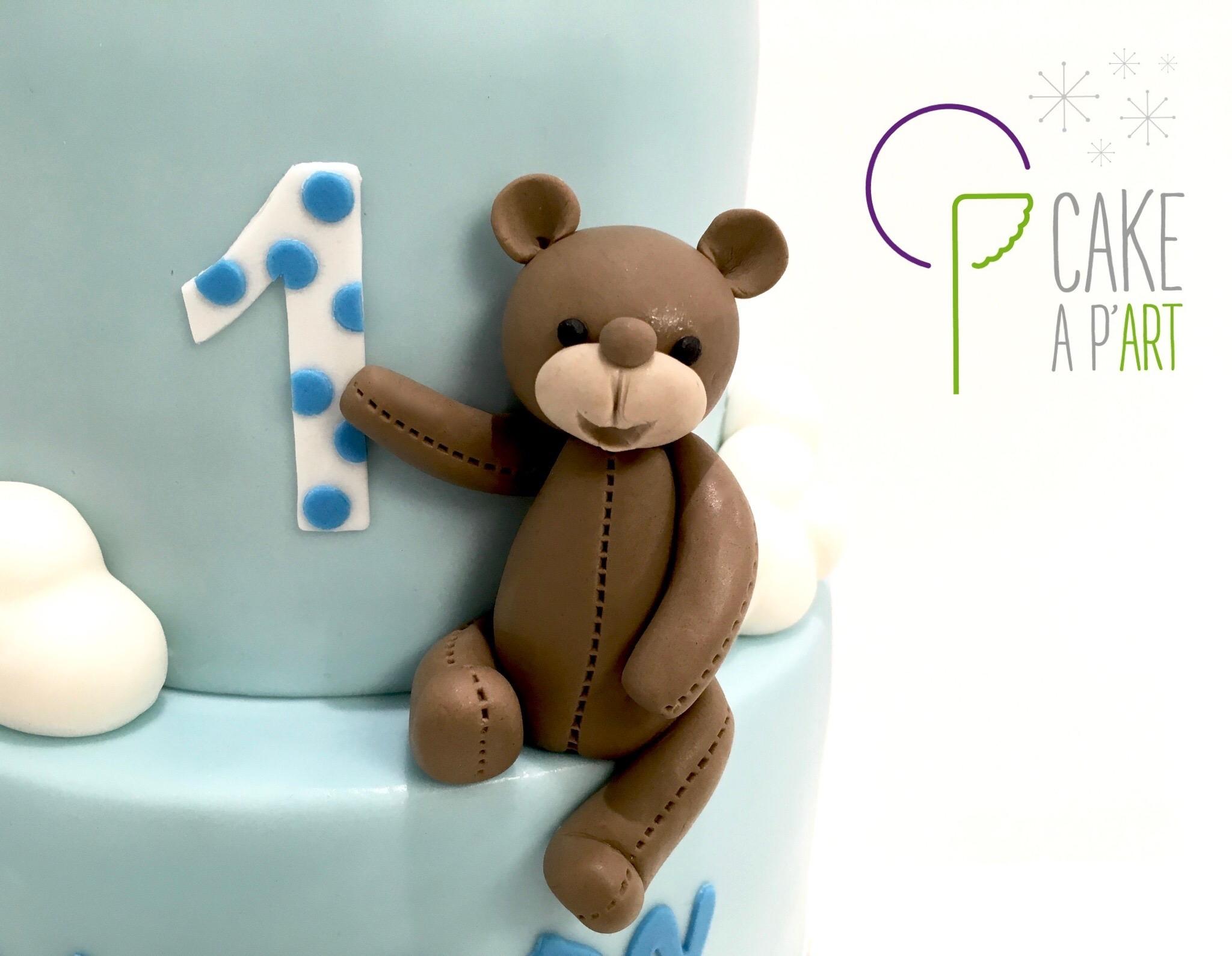 Décor modelage en sucre gâteaux personnalisés - Anniversaire Thème Ourson et Mickey