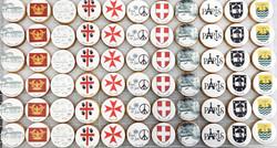 Gâteaux individuels personnalisés Mariage - Sablés décorés Impression alimentaire Thème voyage