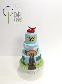 - Gâteau personnalisé anniversaire enfant - Thème Super Wings avion