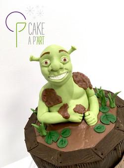 Décor modelage en sucre gâteaux personnalisés - Anniversaire Thème Shrek