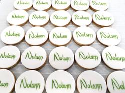 Gâteaux individuels personnalisés Baptême - Sablés décorés Prénoms