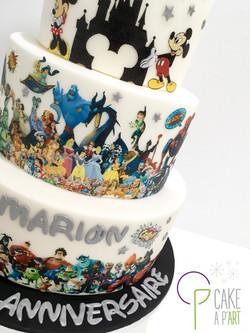 Gâteau sur mesure anniversaire adulte - Thème Disney et Pixar