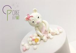 Décor modelage en sucre gâteaux personnalisés - Babyshower Thème Ourson et nuage