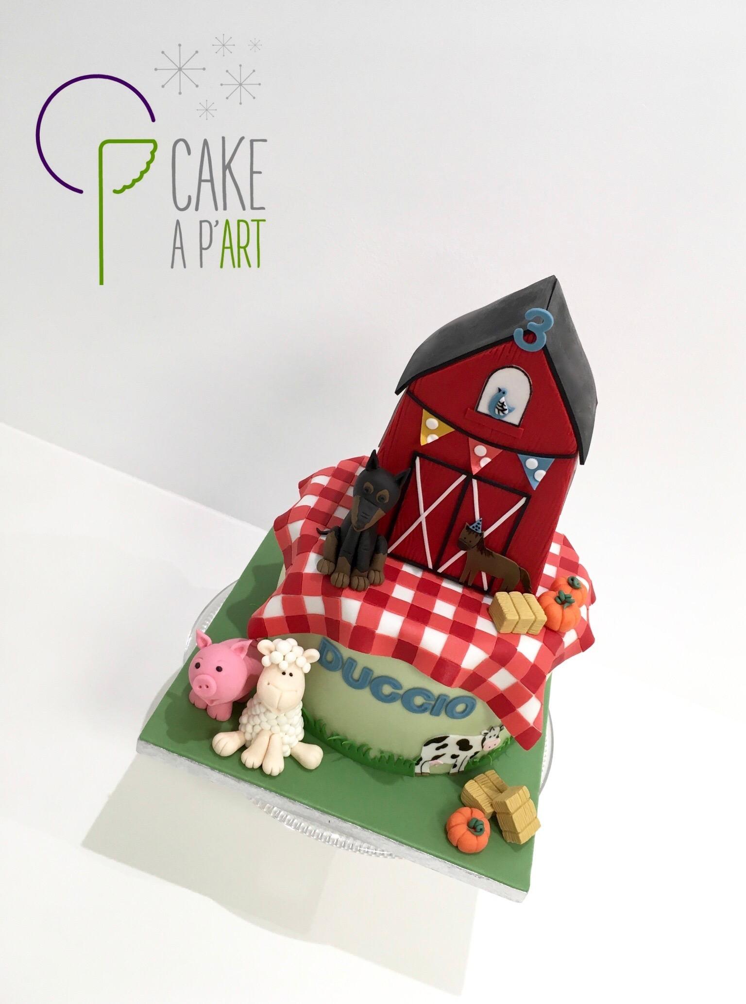 - Gâteau personnalisé anniversaire enfant - Thème Ferme et animaux