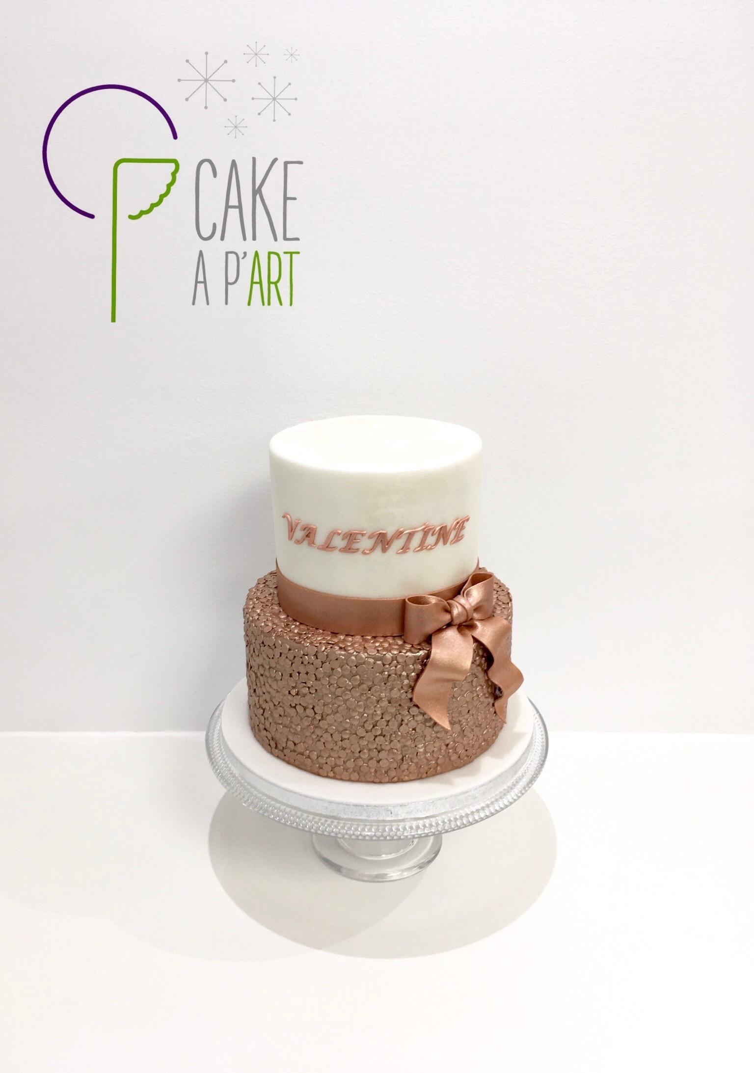 Gâteau sur mesure anniversaire adulte - Thème Rose gold