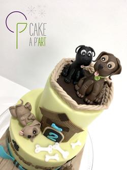 Décor modelage en sucre gâteaux personnalisés - Anniversaire Thème Chiens