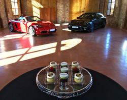 Gâteaux sur mesure Food Marketing Entreprise - Bouchées personnalisées logo Evènement Porsche