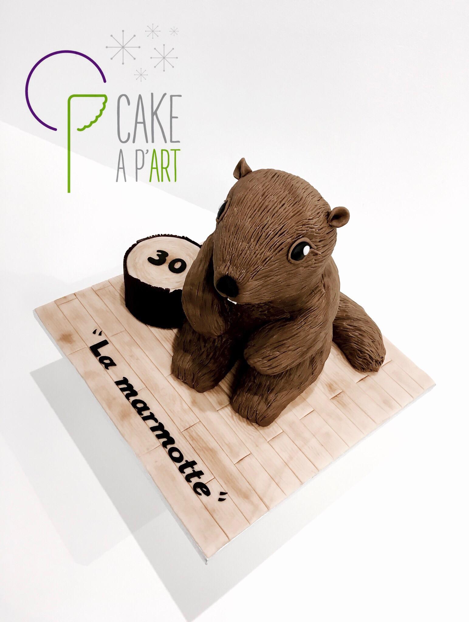 Gâteau sur mesure anniversaire 3D adulte - Thème Marmotte