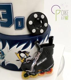 Décor modelage en sucre gâteaux personnalisés - Anniversaire Thème Roller hockey