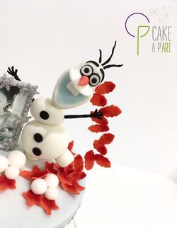 - Gâteau personnalisé anniversaire enfant - Thème La Reine des Neiges 2 Olaf