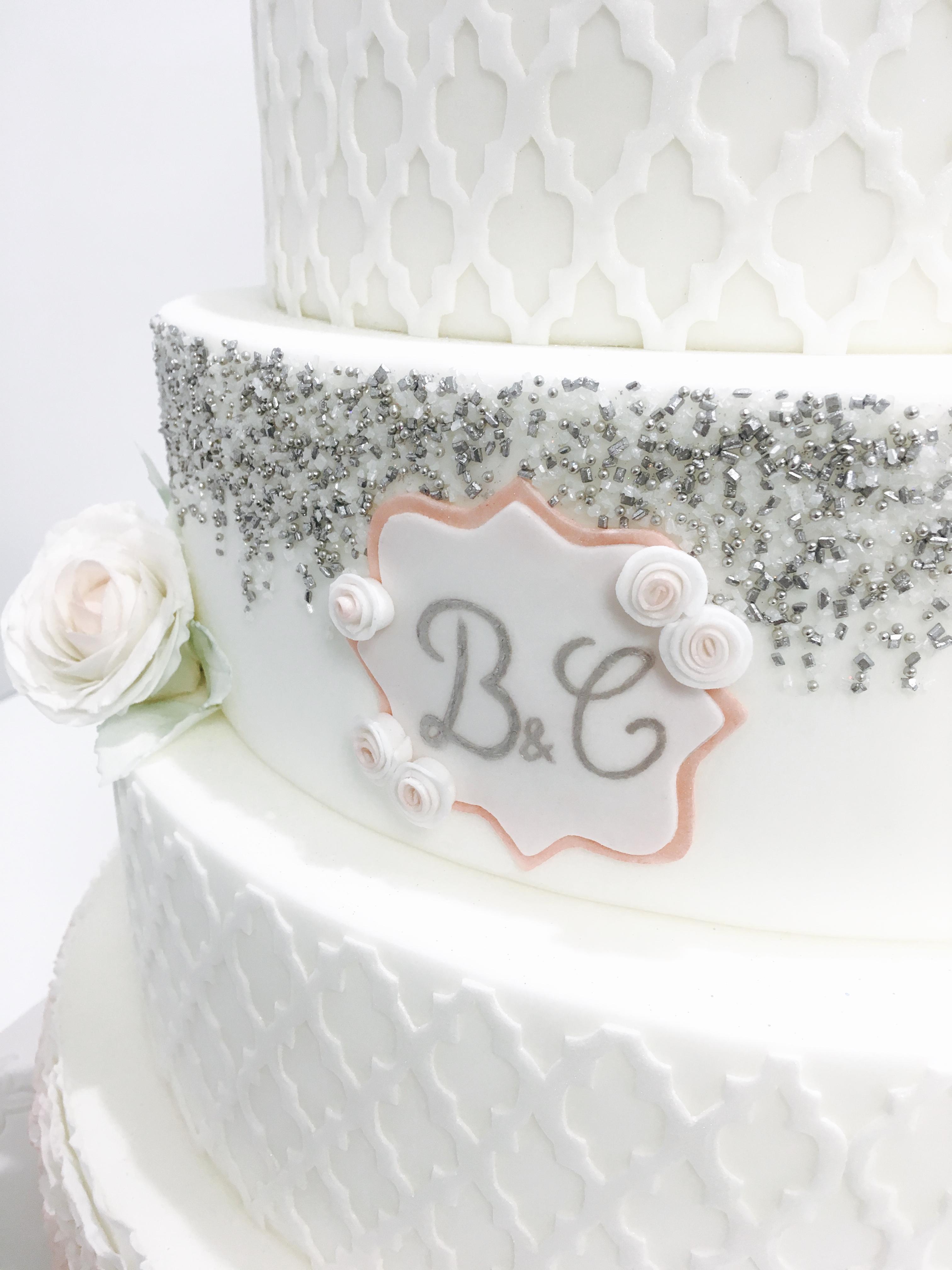 Gâteau Mariage - Perles - Cakeapart