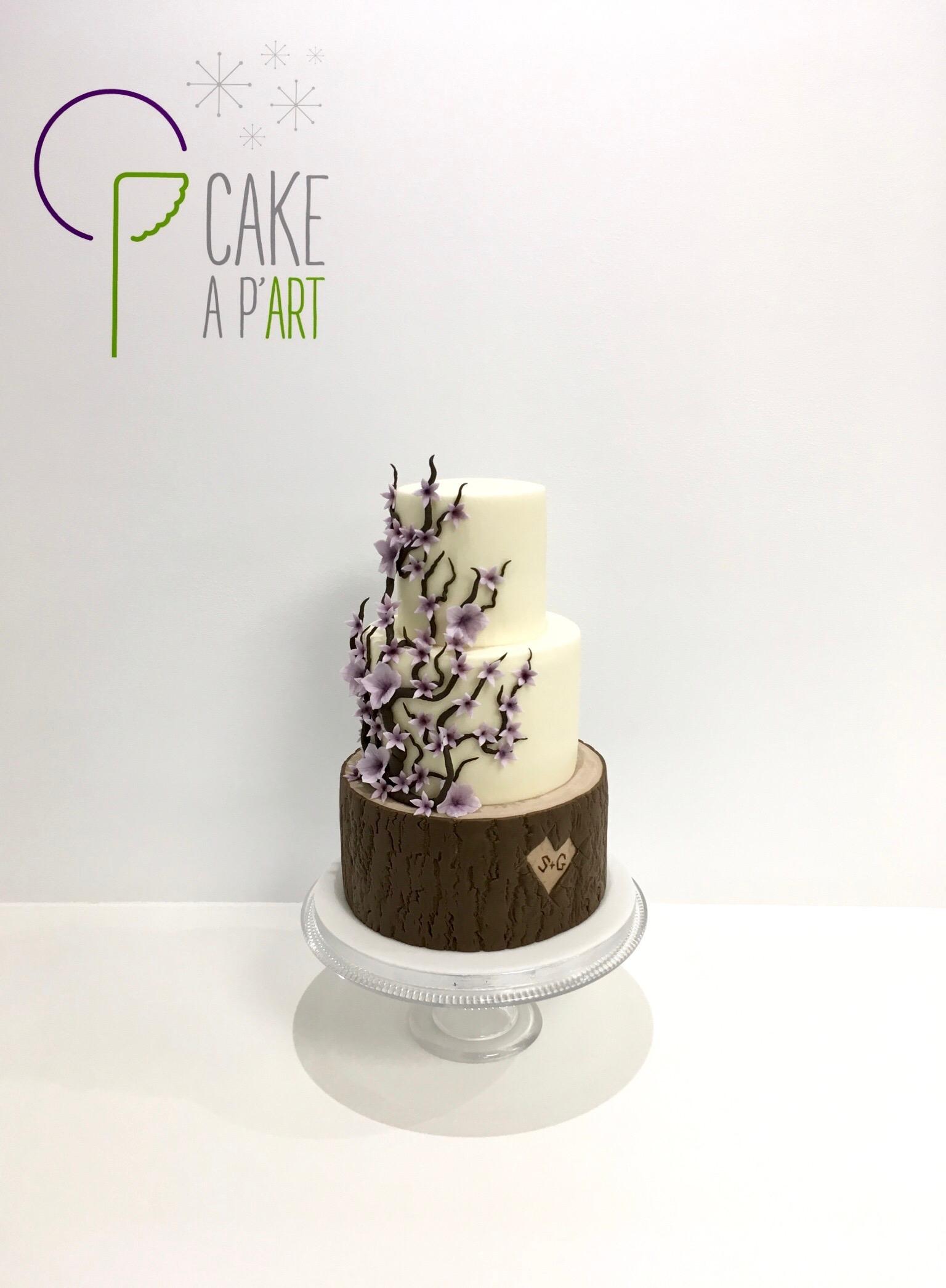 Wedding Cake Pièce montée Mariage - Thème Cerisier et bois
