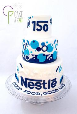Pièce montée sur mesure Entreprise - Gâteau anniversaire Nestlé