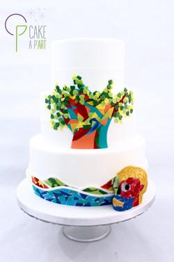 Wedding Cake Pièce montée Mariage - Thème Arts MosaÏque Gaudi Crâne Niki de Saint Phalle
