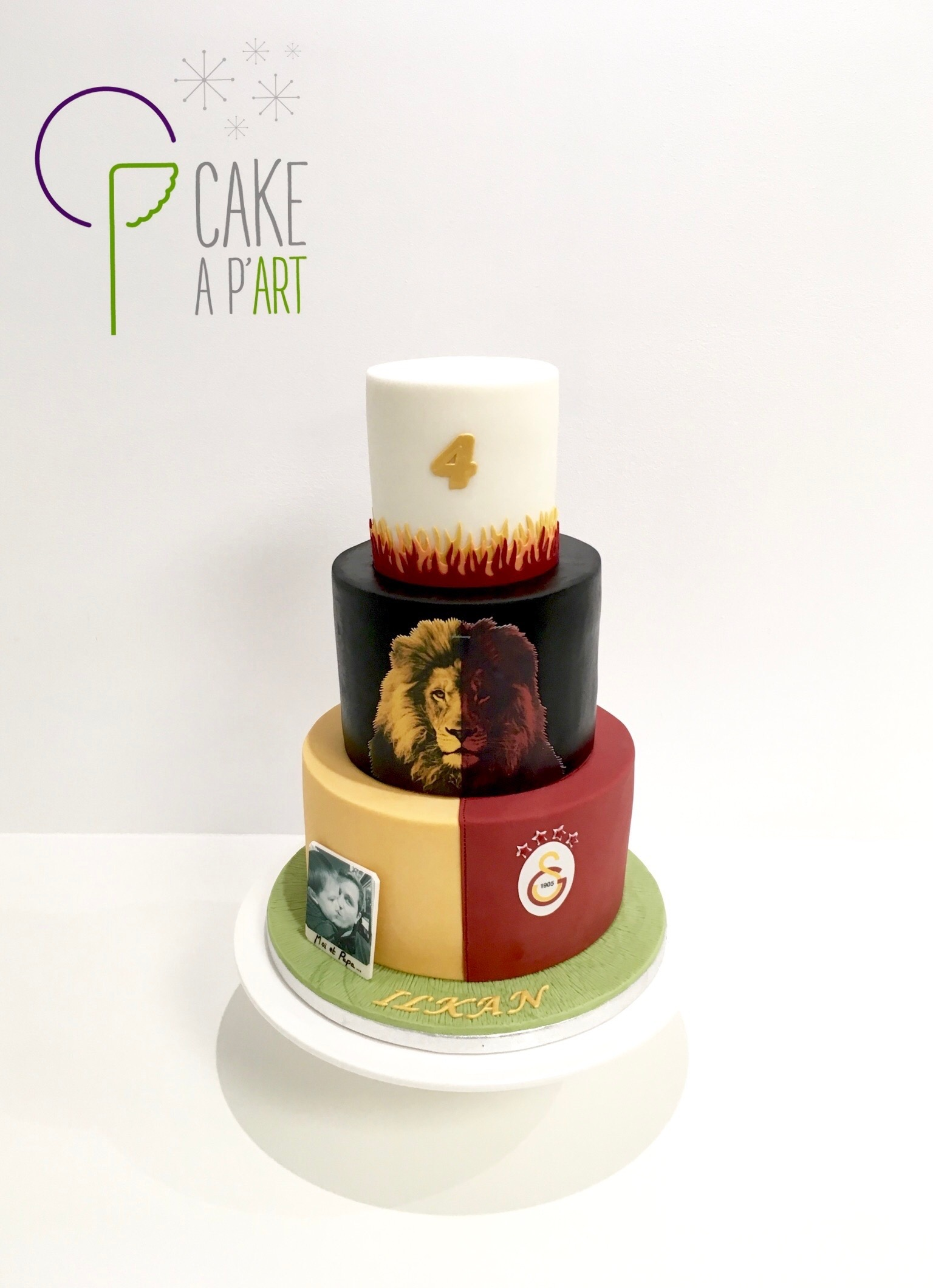 - Gâteau personnalisé anniversaire enfant - Thème Foot Galatasaray