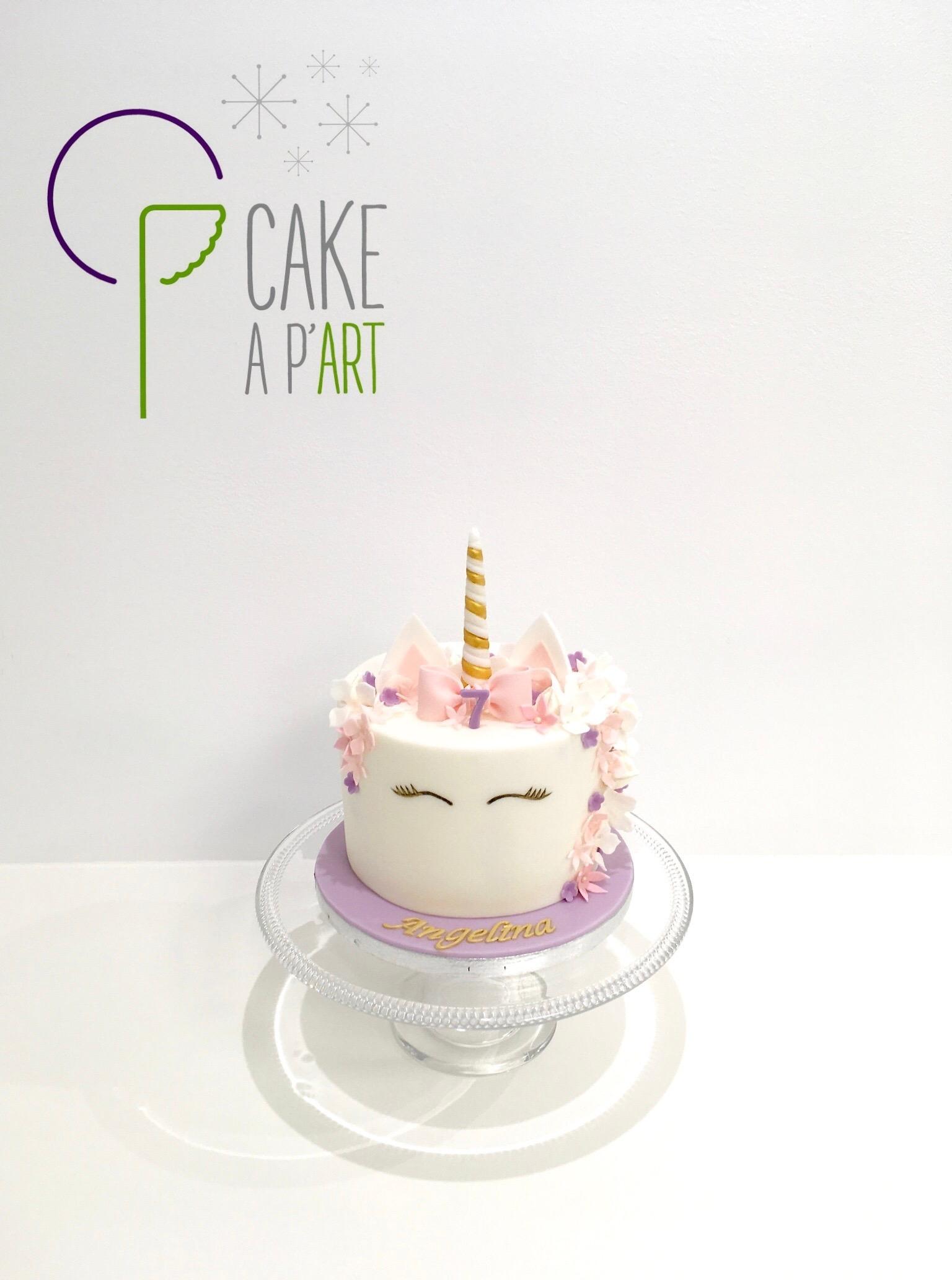 - Gâteau personnalisé anniversaire enfant - Thème Licorne