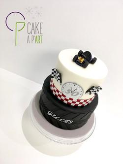Gâteau sur mesure anniversaire adulte - Thème Karting