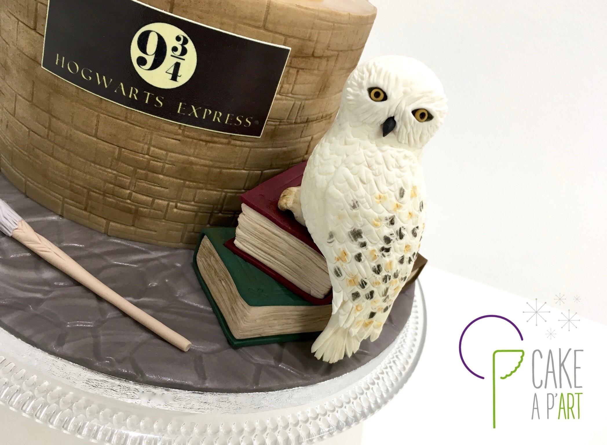 Décor modelage en sucre gâteaux personnalisés - Anniversaire Thème Harry Potter chouette Hedwige