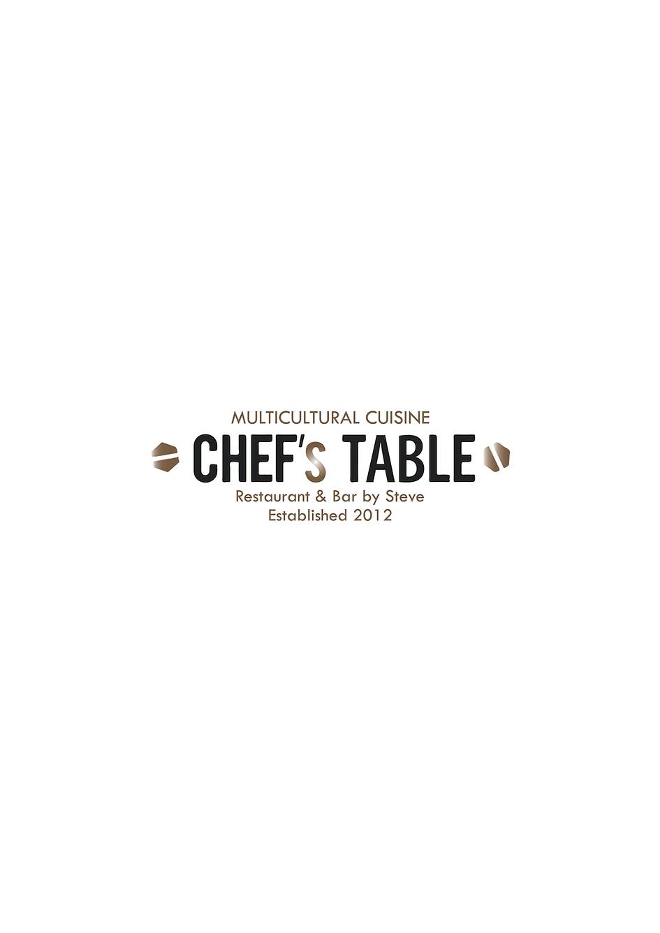 Chef's Table Steve Menu 1