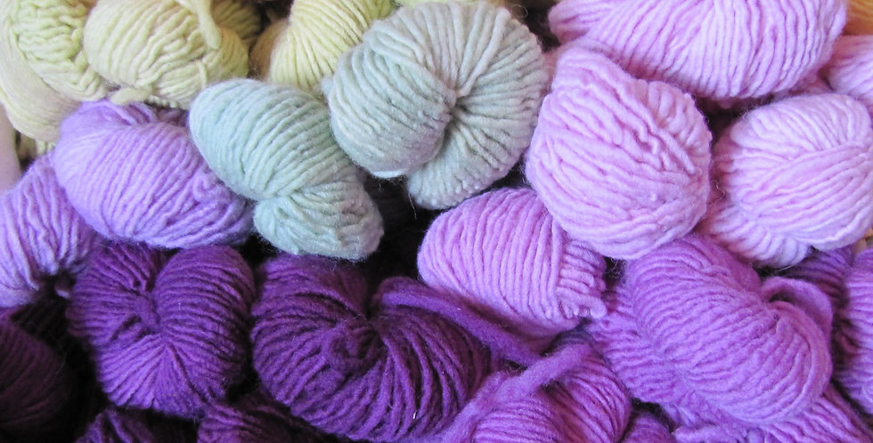 Mill-spun, sport weight, hand-dyed yarn