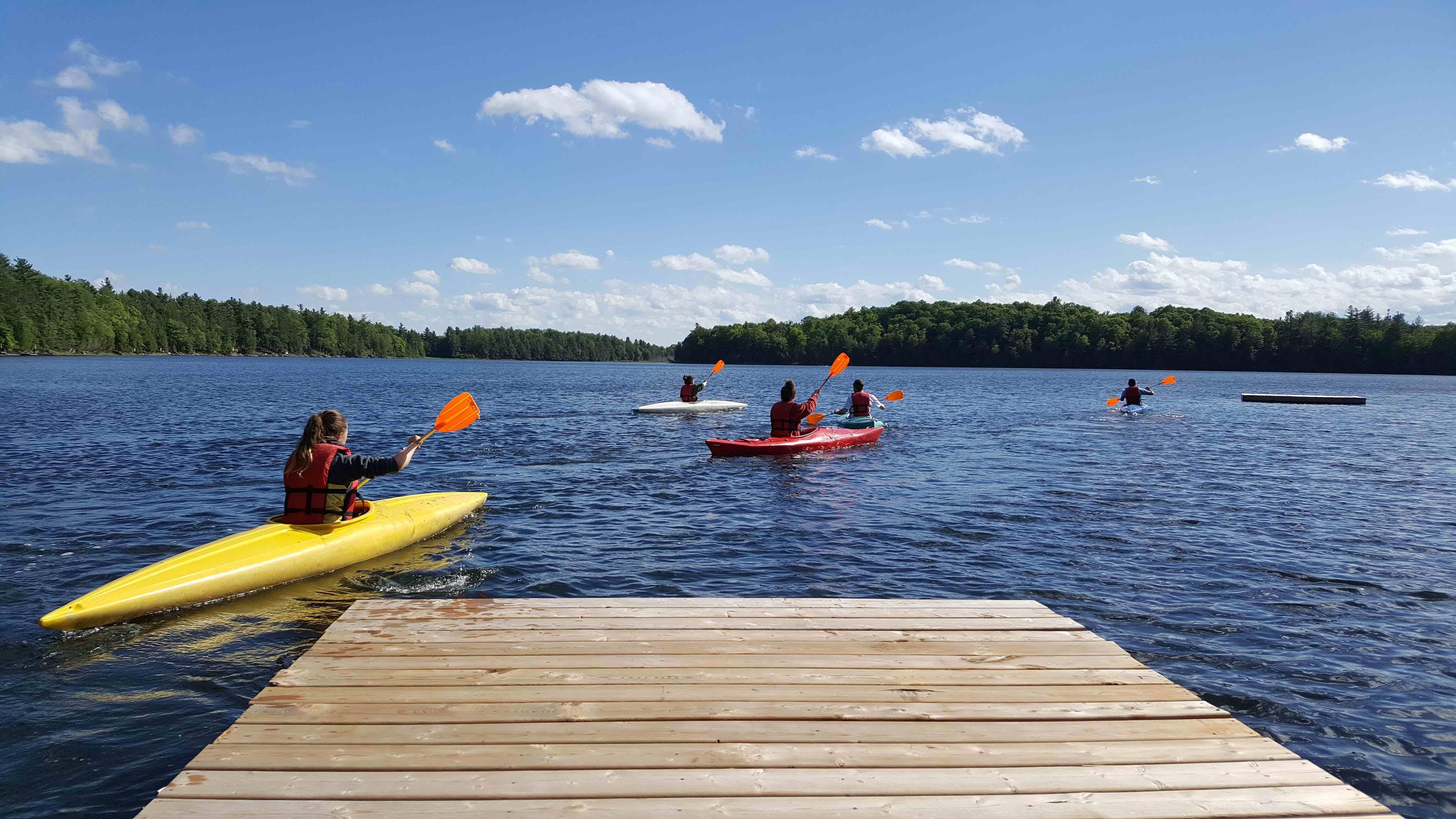 Kayaking At Camp Celiac