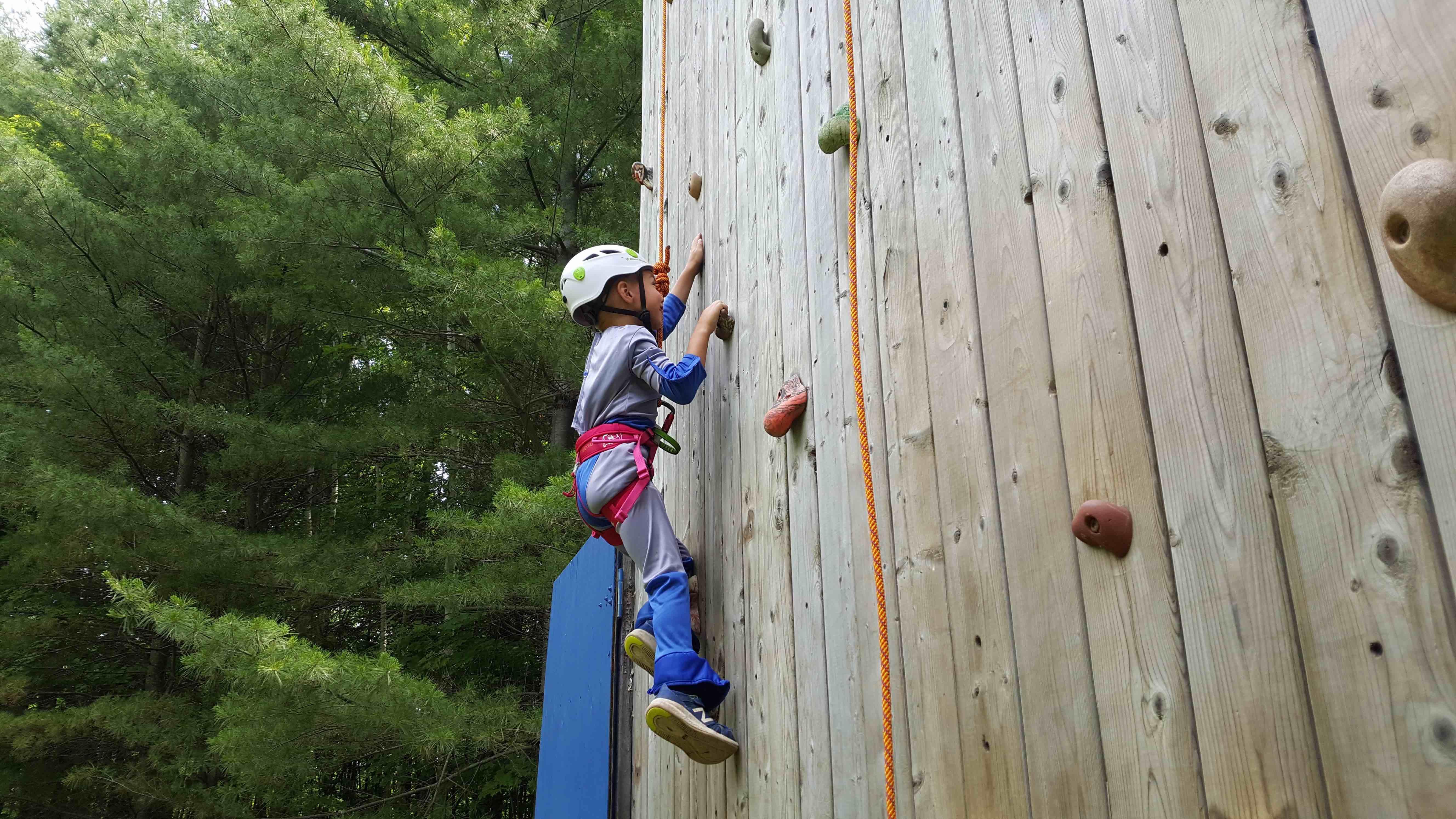 The Rock Climbing Wall At Camp Celiac